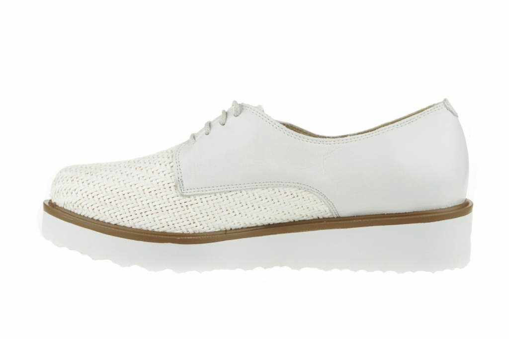 Lince Blucher Trenzado Blanco Shoes 4BV05b